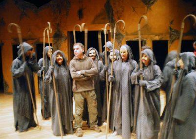 Αντιγόνη-Κρινθιακό θέατρο Βασίλης Ρώτας.-πρόβες