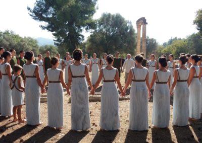 Κύκλος ομάδας τελετής Αφής-Ιερά Άλτη Αρχαία Ολυμπία