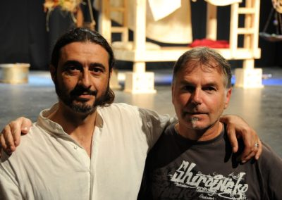 με τον σκηνοθέτη Στρατή Πανούριο